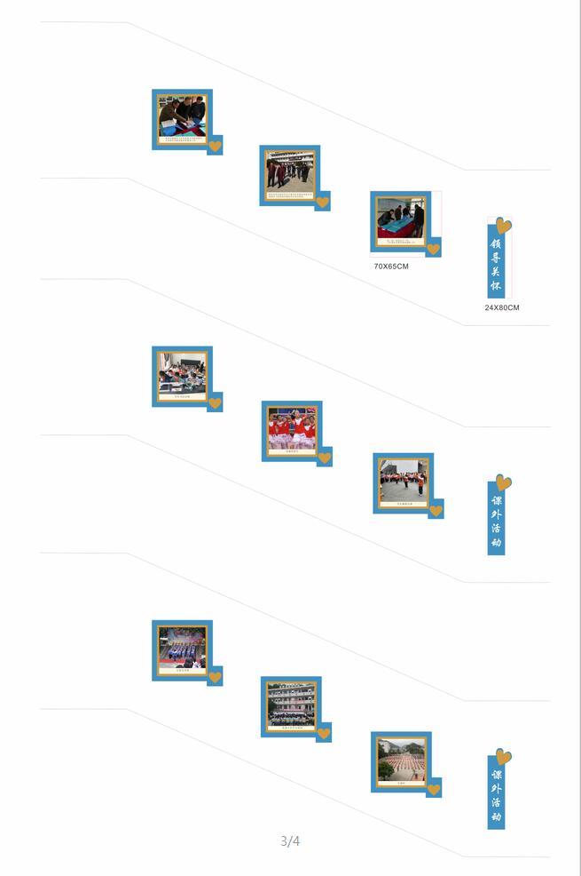 课外活动照片展示墙模板楼道文化模板整套