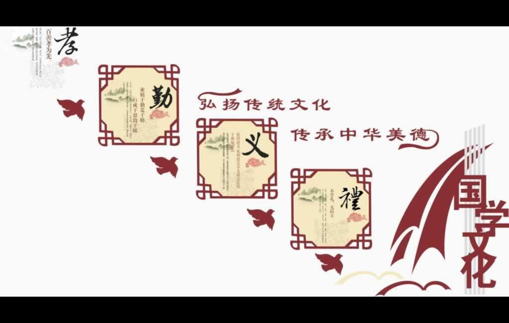 国学传统楼道文化展板【弘扬传统文化传承中华美德】