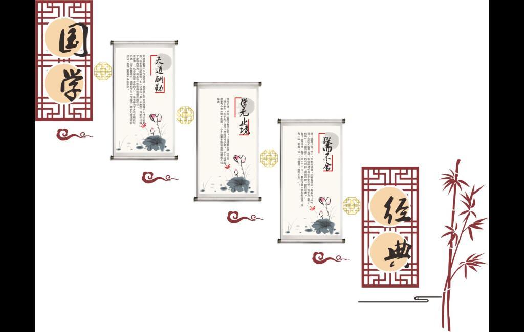国学经典【成语故事】校园楼道文化展板