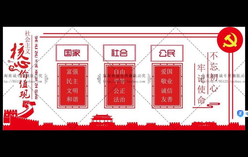 党建文化素材【不忘初心牢记使命展板】ai格式十图网免费下载