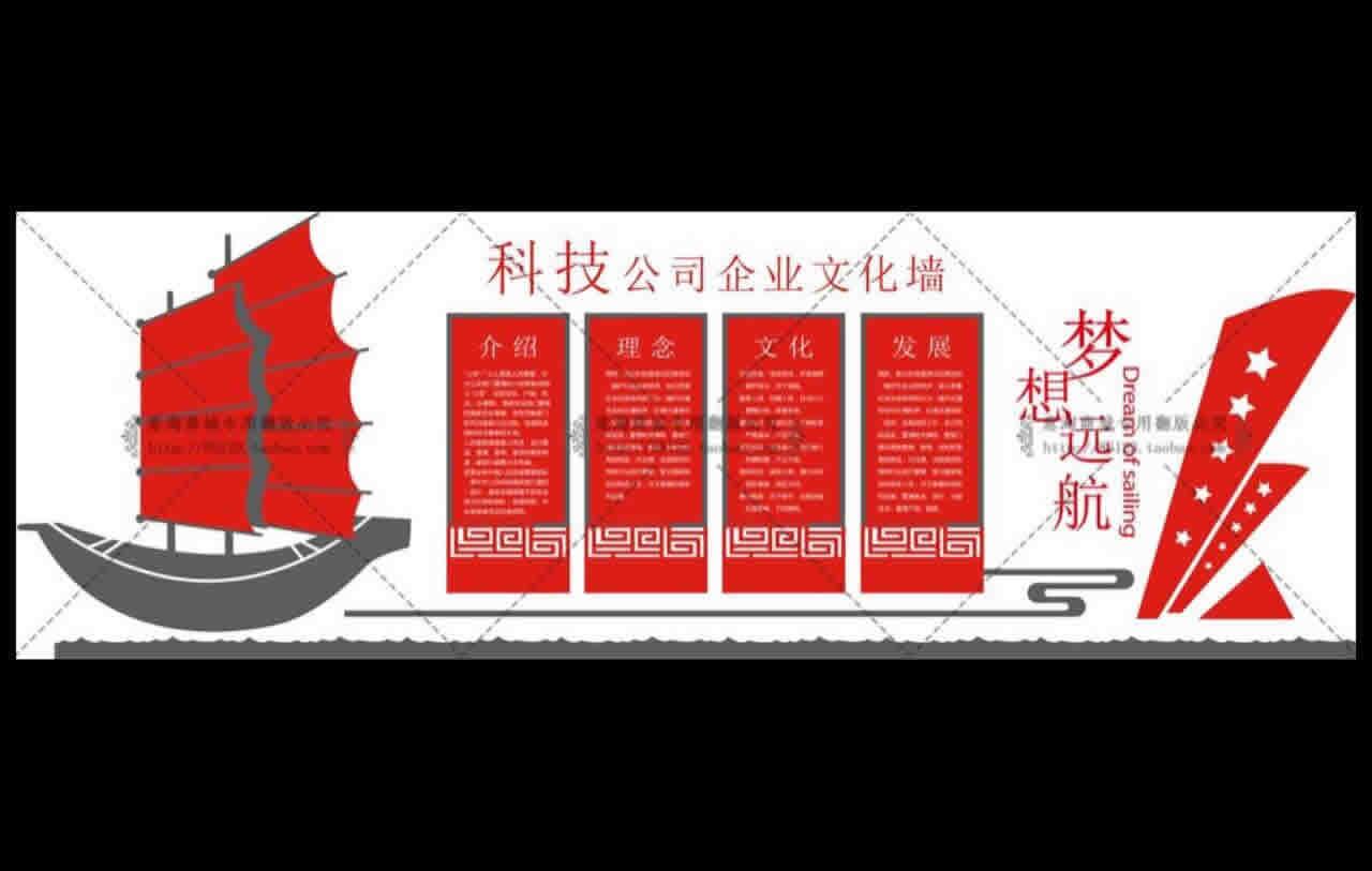 党建文化素材-科技公司企业文化墙