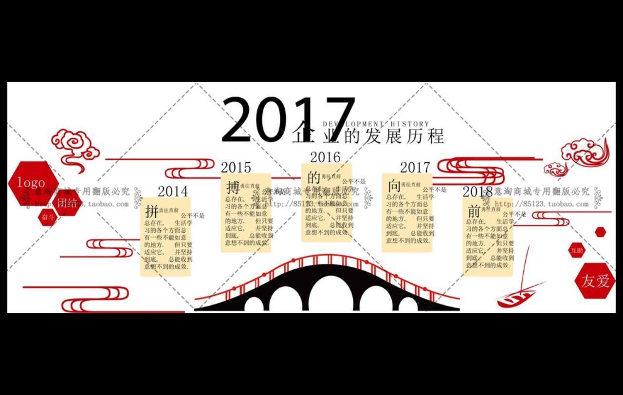 党建文化素材-企业发展历程展示墙