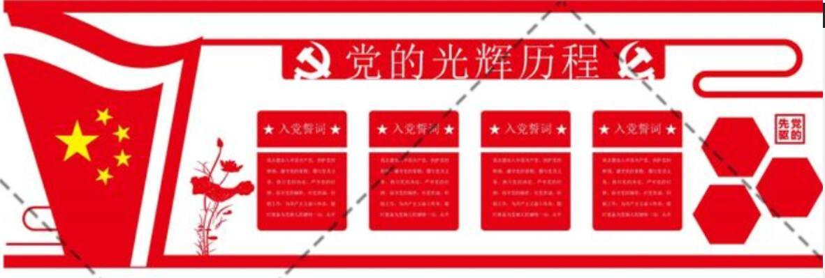 党建文化素材-党的关辉历程展示墙素材