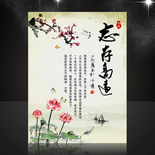 成语故事-中国风校园文化展板【志存高远】PSD下载