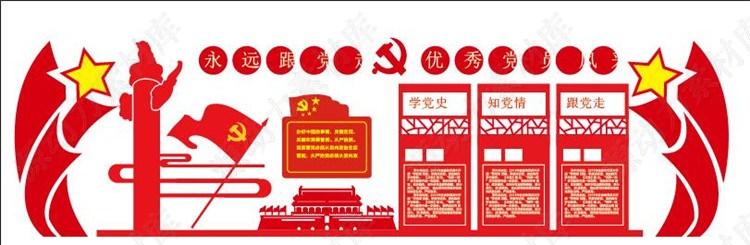 党建文化-永远跟党走优秀党员风采展板素材