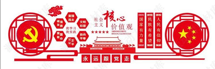 党建文化-社会主义核心价值观展板素材