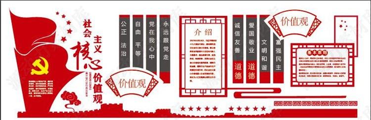 党建文化素材-社会主义核心价值观展板